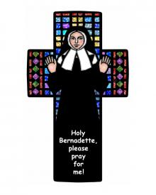 St. Bernadette of Lourdes - Circle by D. Paulos