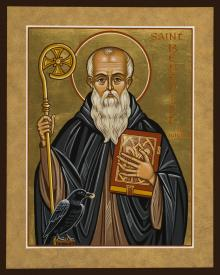 St. Benedict of Nursia by Joan Cole