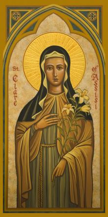 St. Clare of Assisi by Joan Cole