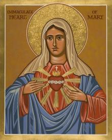 Immaculate Heart of Mary by Joan Cole