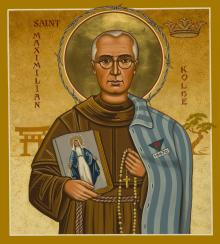 St. Maximilian Kolbe by Joan Cole
