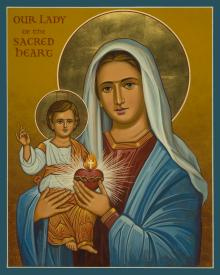 Our Lady of the Sacred Heart by Joan Cole