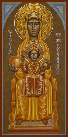 Virgin of Montserrat - Black Madonna by Joan Cole