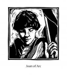 St. Joan of Arc by Julie Lonneman