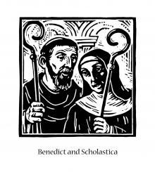 Sts. Benedict and Scholastica by Julie Lonneman