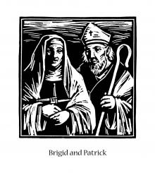 Sts. Brigid and Patrick by Julie Lonneman