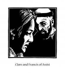 Sts. Clare and Francis by Julie Lonneman