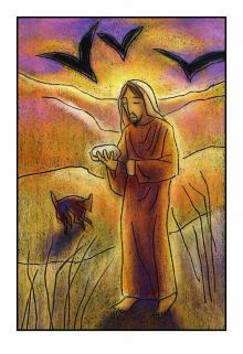 Christ in the Desert by Julie Lonneman