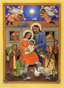 Folk Nativity by Julie Lonneman