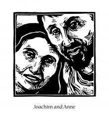 Sts. Joachim and Anne by Julie Lonneman