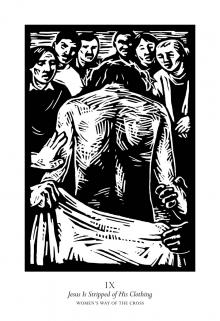 Women's Stations of the Cross 09 - Jesus is Stripped of His Clothing by Julie Lonneman