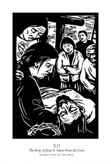 Women's Stations of the Cross 12 - The Body of Jesus is Taken From the Cross by Julie Lonneman