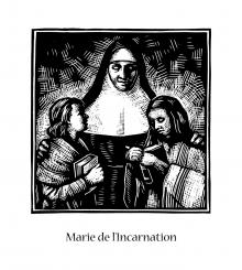 St. Marie of the Incarnation by Julie Lonneman