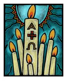 Paschal Candle by Julie Lonneman