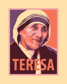 St. Teresa of Calcutta by Julie Lonneman