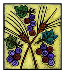 Wheat and Grapes by Julie Lonneman