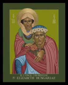 St. Elizabeth of Hungary and Bl. Ludwig of Thuringia by Lewis Williams, OFS