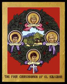 The Four Church Women of El Salvador by Lewis Williams, OFS