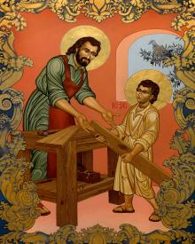 St. Joseph and Christ Child by Lewis Williams, OFS