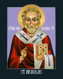 St. Nicholas, Wonderworker by Lewis Williams, OFS