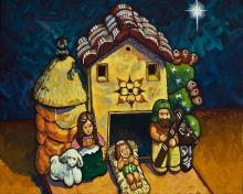 Peruvian Nativity by Lewis Williams, OFS