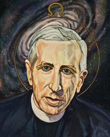 Fr. Pierre Teilhard de Chardin by Lewis Williams, OFS