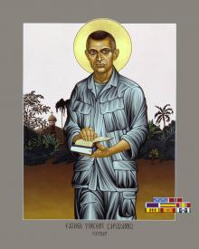 Fr. Vincent Capodanno by Lewis Williams, OFS