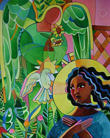 Annunciation Quilt by Br. Mickey McGrath, OSFS