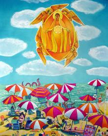 Mary, Assumption Over Bethany by Br. Mickey McGrath, OSFS