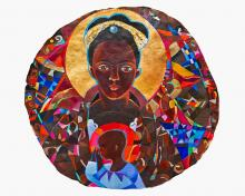 Black Madonna Mandala by Br. Mickey McGrath, OSFS