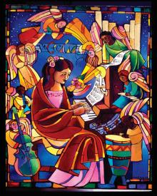 St. Cecilia by Br. Mickey McGrath, OSFS