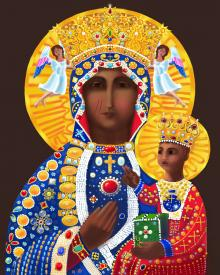 Our Lady of Czestochowa by Br. Mickey McGrath, OSFS