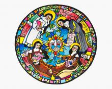 Doctors of the Church Mandala by Br. Mickey McGrath, OSFS