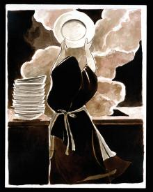 St. Thérèse Doing the Dishes by Br. Mickey McGrath, OSFS