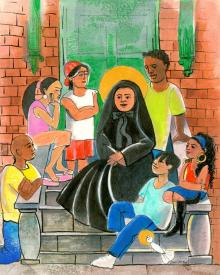 St. Frances Cabrini by Br. Mickey McGrath, OSFS
