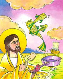 Jesus: Fish Fry With Friends by Br. Mickey McGrath, OSFS