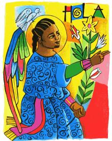 St. Gabriel Archangel by Br. Mickey McGrath, OSFS