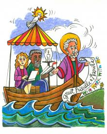 St. Paul: Greet Sts. Priscilla and Aquila by Br. Mickey McGrath, OSFS