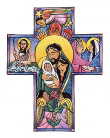 Holy Family Cross by Br. Mickey McGrath, OSFS