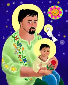 St. Joseph and Jesus by Br. Mickey McGrath, OSFS