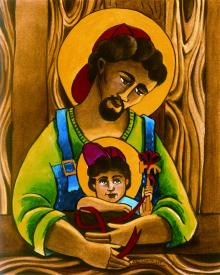 St. Joseph and Son by Br. Mickey McGrath, OSFS