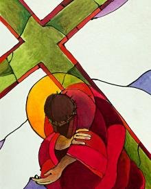 Stations of the Cross - 9 Jesus Falls a Third Time by Br. Mickey McGrath, OSFS