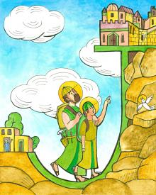 St. Joseph and Jesus in Jerusalem by Br. Mickey McGrath, OSFS