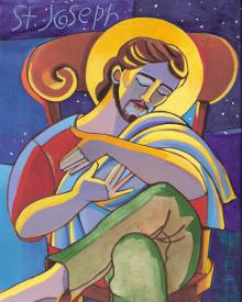 St. Joseph by Br. Mickey McGrath, OSFS