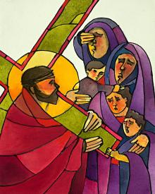 Stations of the Cross - 8 Jesus Meets the Women of Jerusalem by Br. Mickey McGrath, OSFS