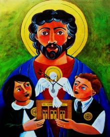 St. Luke the Evangelist by Br. Mickey McGrath, OSFS