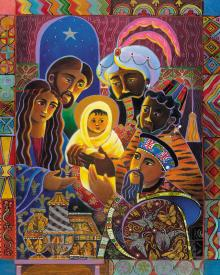 Light of the World Nativity by Br. Mickey McGrath, OSFS