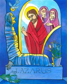 St. Lazarus by Br. Mickey McGrath, OSFS