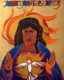 Mary Mother of Mercy by Br. Mickey McGrath, OSFS