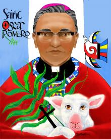 St. Oscar Romero by Br. Mickey McGrath, OSFS